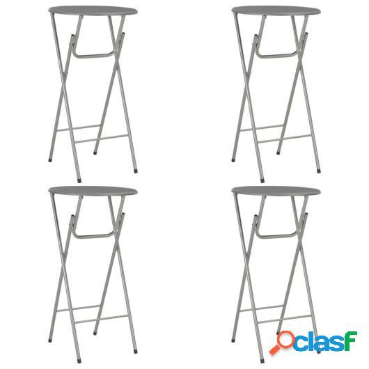 Mesas altas de cocina 4 unidades MDF gris antracita 60x112