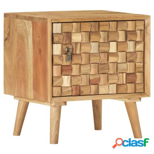 Mesita de noche de madera maciza de acacia 42x35x45 cm