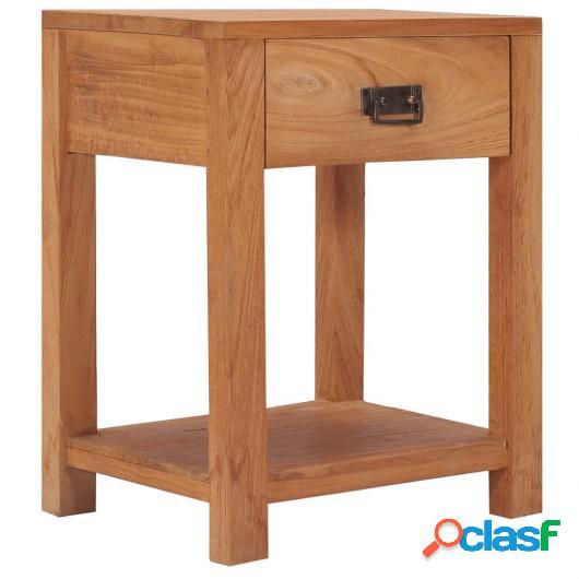 Mesita de noche de madera maciza de teca 35x35x50 cm