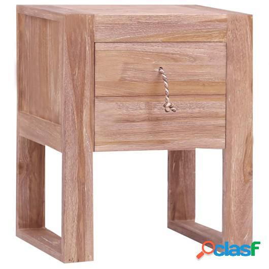 Mesita de noche de madera maciza de teca 40x30x50 cm
