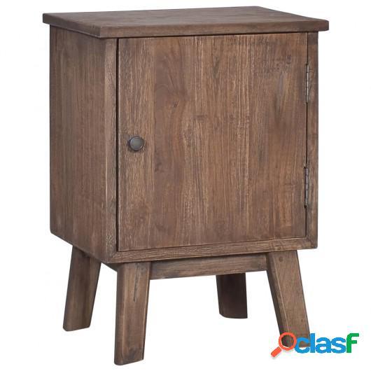 Mesita de noche de madera maciza de teca 40x30x53 cm