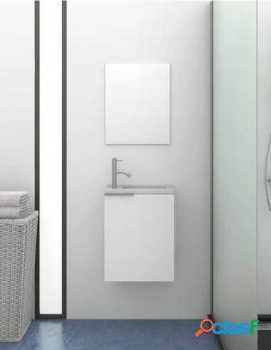 Mueble De Baño Pequeño Moderno Con Espejo Y Lavabo Solid