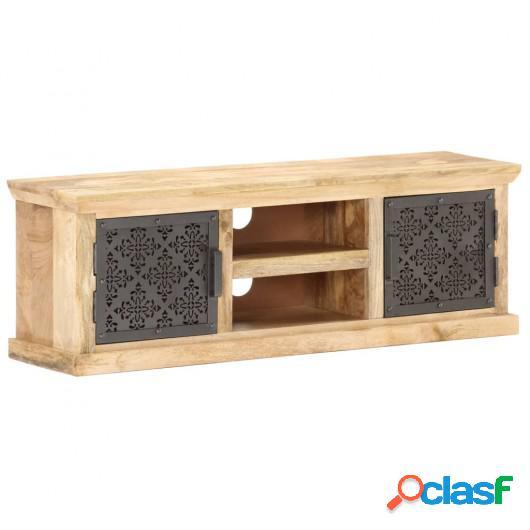 Mueble TV con puertas de acero madera maciza mango