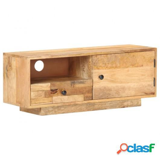 Mueble para TV de madera de mango maciza 90x30x35 cm