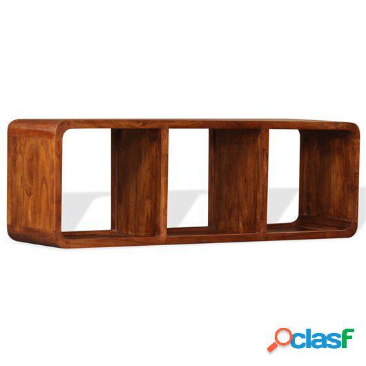 Mueble para TV de madera maciza acabado Sheesham 120x30x40cm