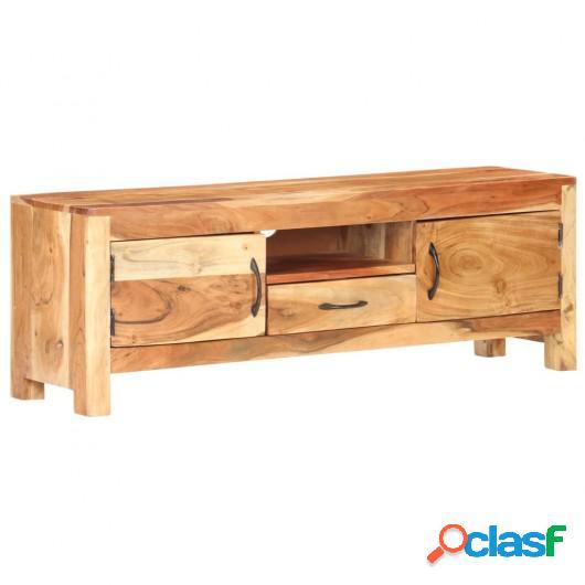 Mueble para TV de madera maciza de acacia 116x30x40 cm