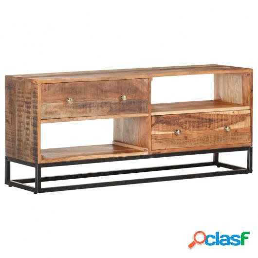 Mueble para TV de madera maciza de acacia rugosa 120x30x50