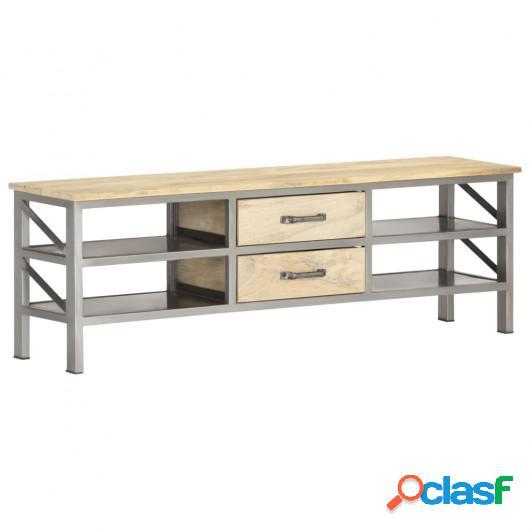 Mueble para TV de madera maciza de mango 120x30x40 cm
