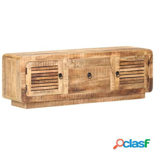 Mueble para TV de madera maciza de mango rugosa 120x30x40 cm