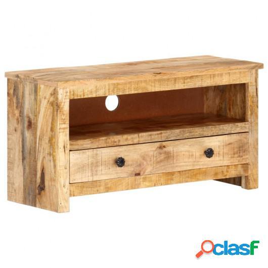 Mueble para TV de madera maciza de mango rugosa 79x30x40 cm