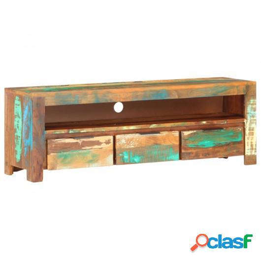 Mueble para TV de madera maciza reciclada 119x30x41 cm