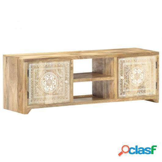 Mueble para TV madera maciza de mango 120x30x40 cm