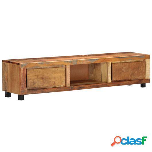 Mueble para la TV 150x30x33 cm madera maciza reciclada