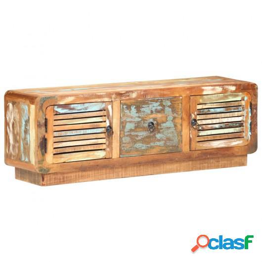 Mueble para la TV madera maciza reciclada 120x30x40 cm