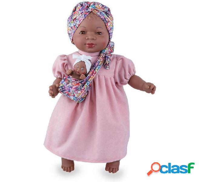 Muñeca María de 45 cm con Bebé