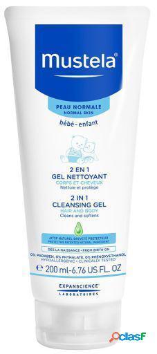 Mustela Bebé 2 In 1 Cleansing Gel Normal Skin 200 ml