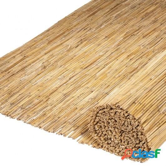 Nature Vallas de jardín 2 unidades caña de bambú 500x150