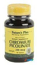 Nature's Plus Compuesto de Cromo Chromium Picolinate 200mcg