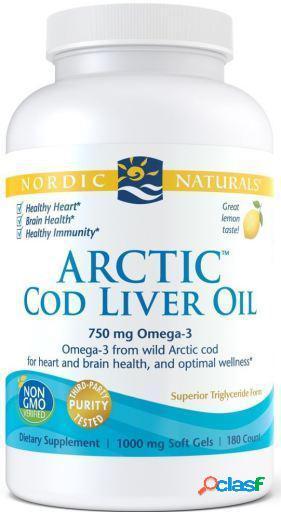 Nordic Naturals Aceite de Hígado de Bacalao Ártico 180
