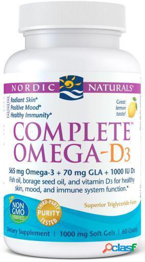 Nordic Naturals Complete Omega D3 Limón 60 Cápsulas