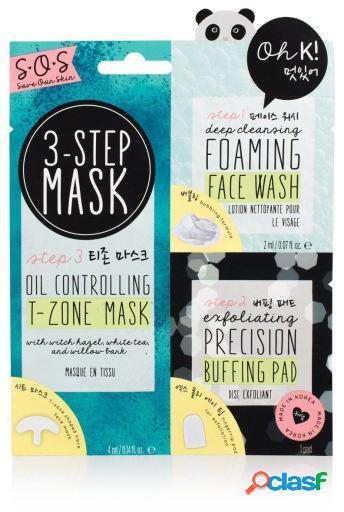 Oh K! 3-Step Blemish Solution Mask 3 Uds