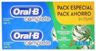 Oral B Pack Dentífrico + Blanqueante 2 en 1 2x75 ml