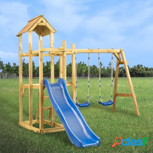 Parque infantil tobogán, columpios y escalera 285x305x226,5