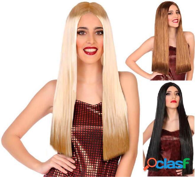 Peluca Lisa y Larga de 60 cm en varios colores