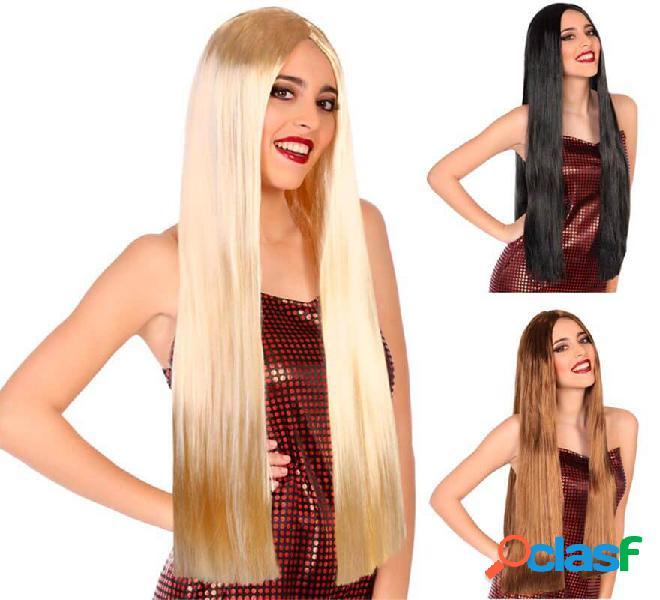 Peluca Lisa y Larga de 80 cm en varios colores