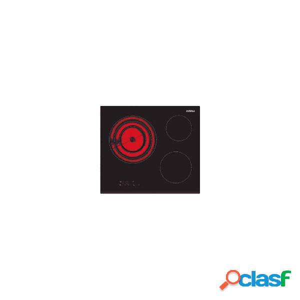 Placa Vitrocerámica - Edesa EVT6328B 3 Zonas 60 cm Negro
