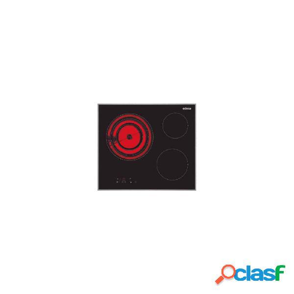 Placa Vitrocerámica - Edesa EVT6328X 3 Zonas 60 cm Negro