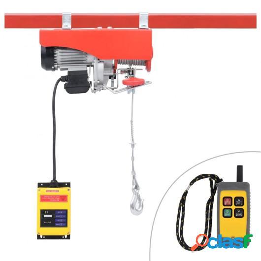Polipasto eléctrico con mando a distancia 1300 W 500/999 kg