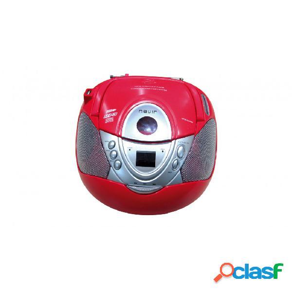 Radio CD - Nevir NVR474U Mp3 USB Rojo