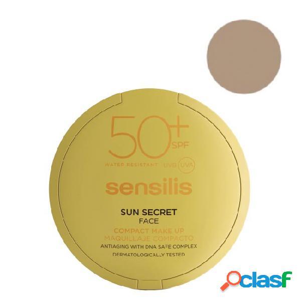 Sensilis Sun Secret SPF50 + Crema compacta Mat y Color 02