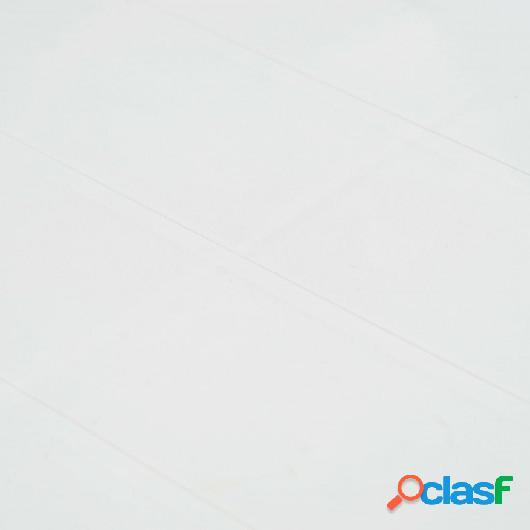 Set de muebles de jardín 7 pzas plástico blanco aspecto
