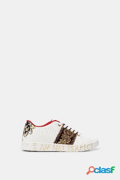 Sneakers calle piel sintética - WHITE - 39