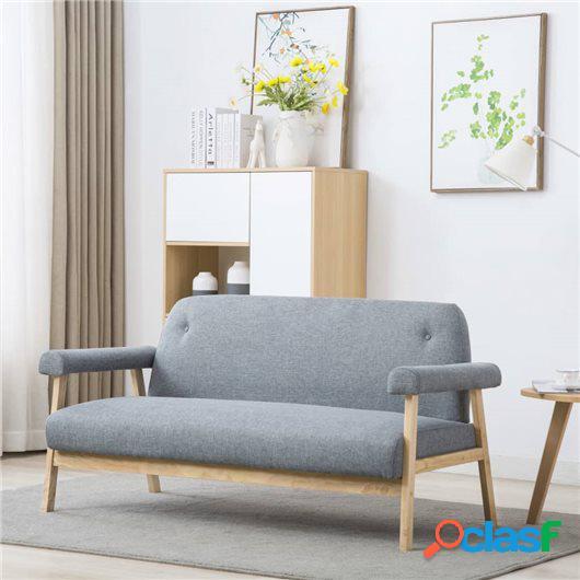Sofá de 3 plazas de tela gris claro