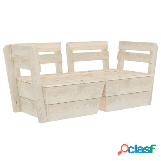 Sofá de palets de jardín 2 plazas madera de abeto
