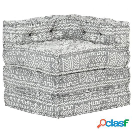 Sofá modular de esquina tela gris claro