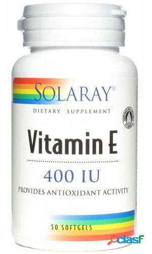Solaray Vitamina E 100% D Alfa Tocoferoles 50 Perlas