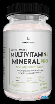 Supplement Needs Multi Vitamin and Mineral+ 30 tabletas