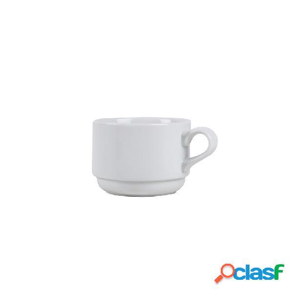 Taza de café de porcelana blanca