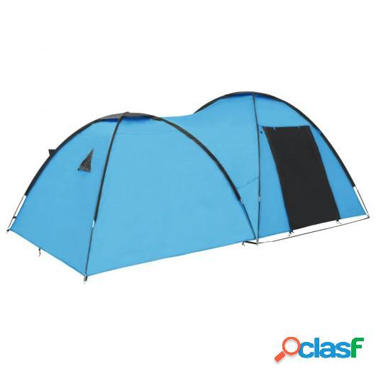 Tienda de campaña tipo iglú 4 personas azul 450x240x190 cm