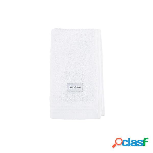 Toalla de algodón blanco Aries 50x30 cm.