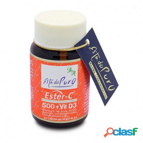 Tongil Ester C 500 + Vitamina D 3 60 Capsulas Vegetales