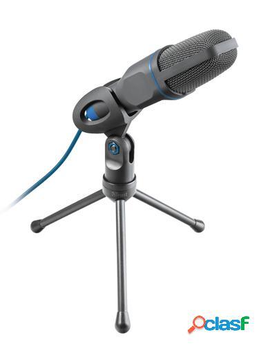 Trust Mico Micrófono para PC Negro, Azul