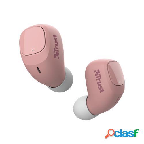 Trust Nika Compact Auriculares Dentro de oído Rosa