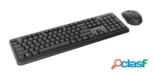 Trust TKM-350 teclado RF inalámbrico Español Negro