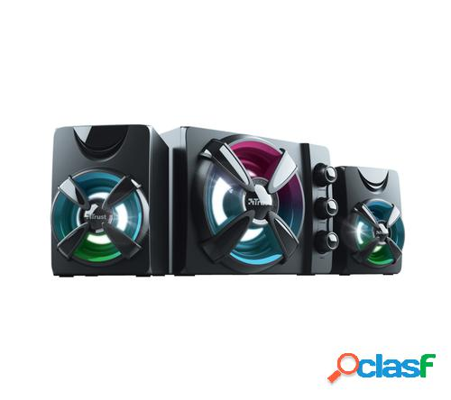 Trust Ziva RGB 2.1 Gaming conjunto de altavoces 2.1 canales