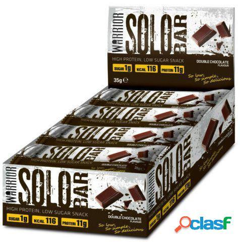 Warrior Solo Bar 12 barras Doble Chocolate